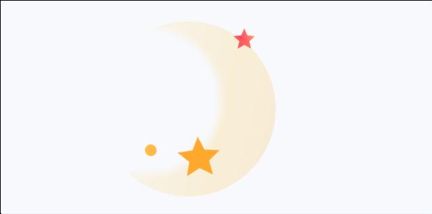 image lune et étoiles